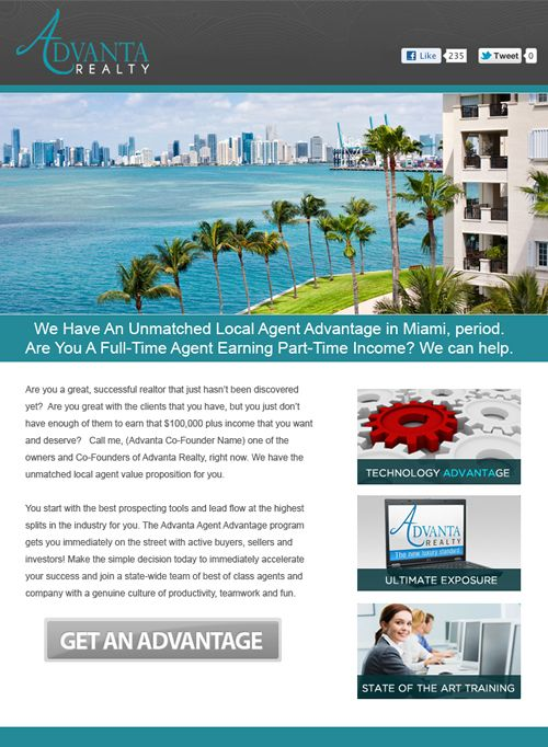 Professionally Designed Real Estate \ Mortgage Brokers Email Flyer - sample marketing campaign