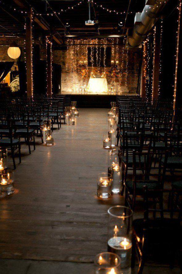 Ways To Get The Industrial Wedding Look Rustic Wedding Chic Romantic Wedding Ceremony Dark Wedding Warehouse Wedding