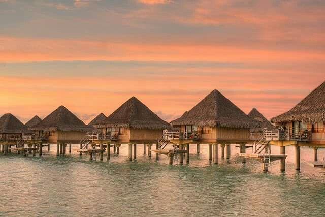 Bora Bora Island, French Polynesia.  -프랑스령 폴리네시아제도의 보라 보라섬-
