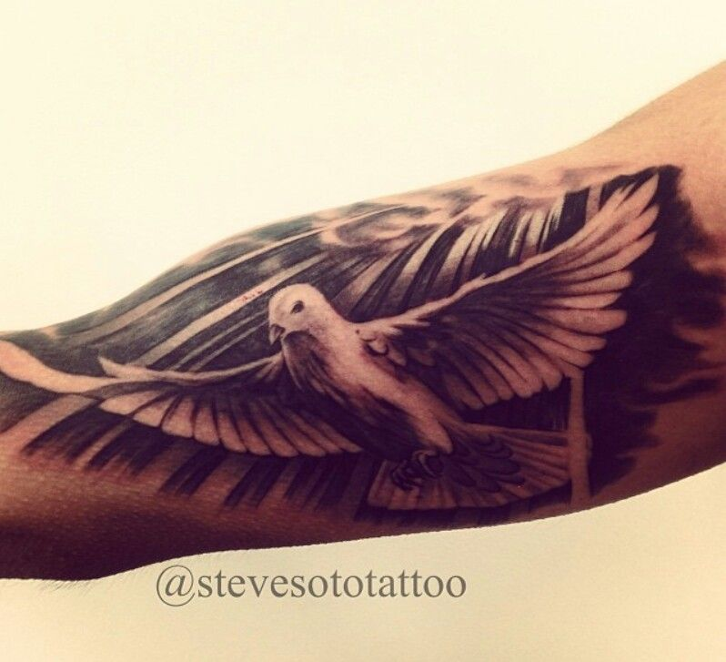 Tattoo designs/ Dove tattoo/ forearm tattoos