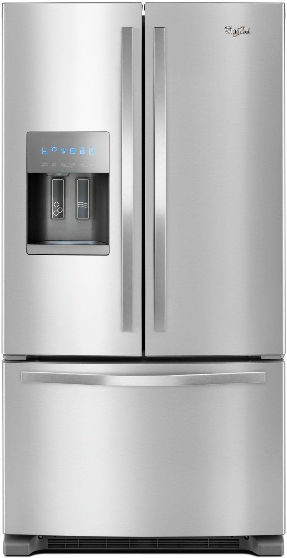 Whirlpool cu ft frenchdoor refrigerator in fingerprint