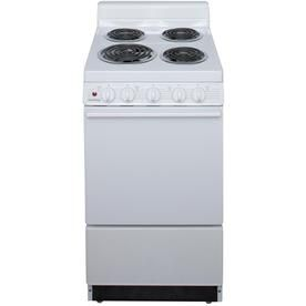 Holiday Freestanding 2 4 Cu Ft Electric Range White Common 20 In Actual 20 125 In Item 64057 Freestanding Electric Ranges Electric Range Electricity