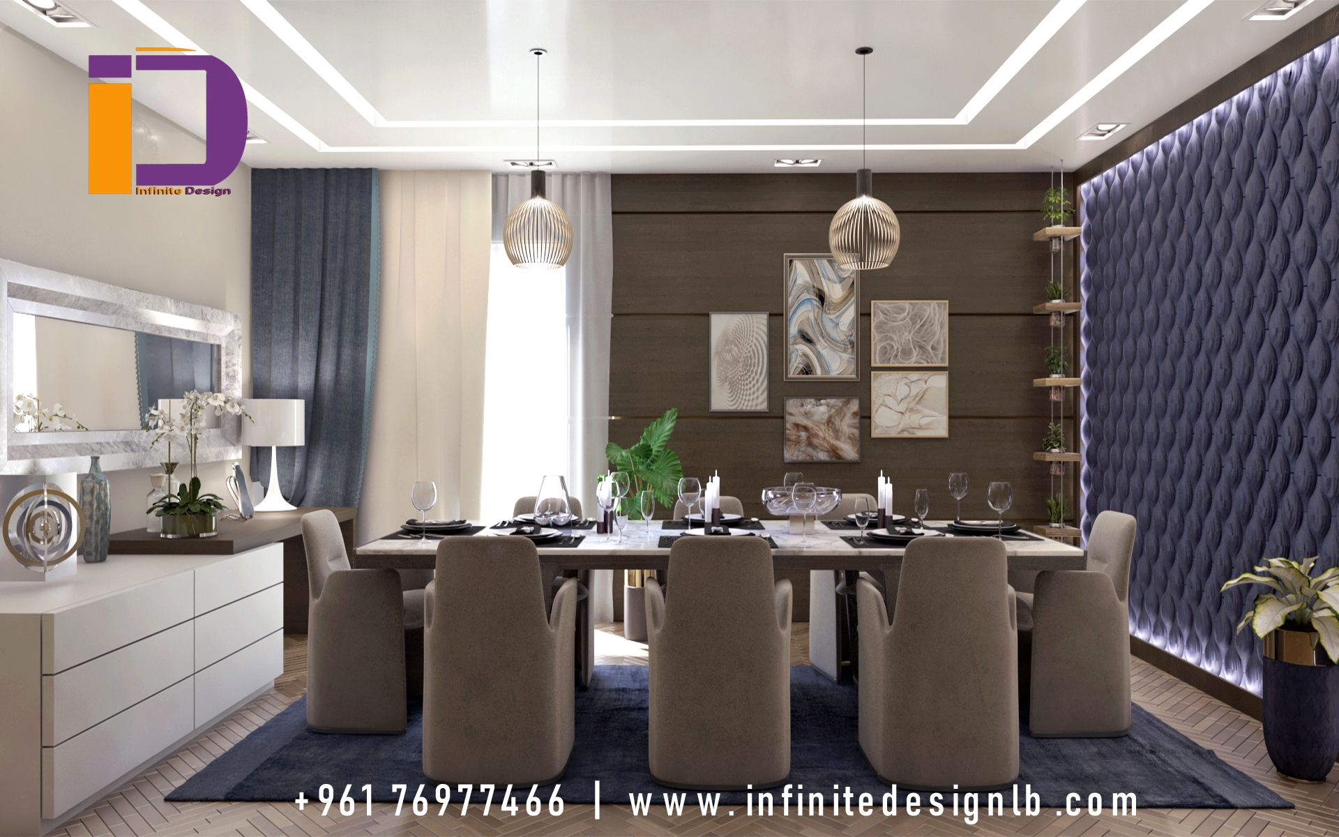 A Unique Dining Room Designed With A New Classic Style That
