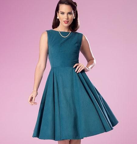 Butterick Pattern: B6094 Misses\' Retro Dress | Easy — jaycotts.co.uk ...