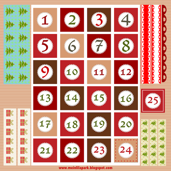 graphic about Advent Calendar Numbers Printable known as Free of charge printable Xmas introduction calendar figures and borders