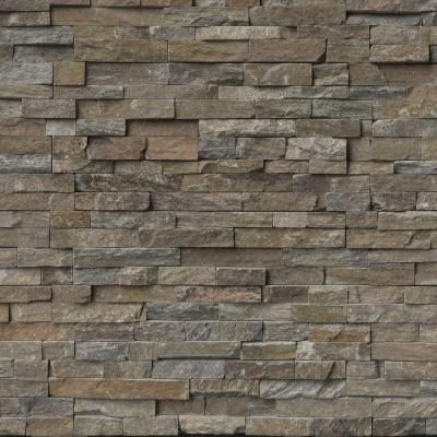 Msi Canyon Creek Ledger Panel 6 In X 24 In Natural Quartzite Wall Tile 10 Cases 40 Sq Ft Pallet Lpnlqcancre624 The Home Depot Natural Stone Tile Canyon Creek Stacked Stone