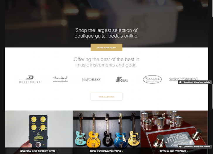 Rogue Guitar Shop Ecommerce Website Design