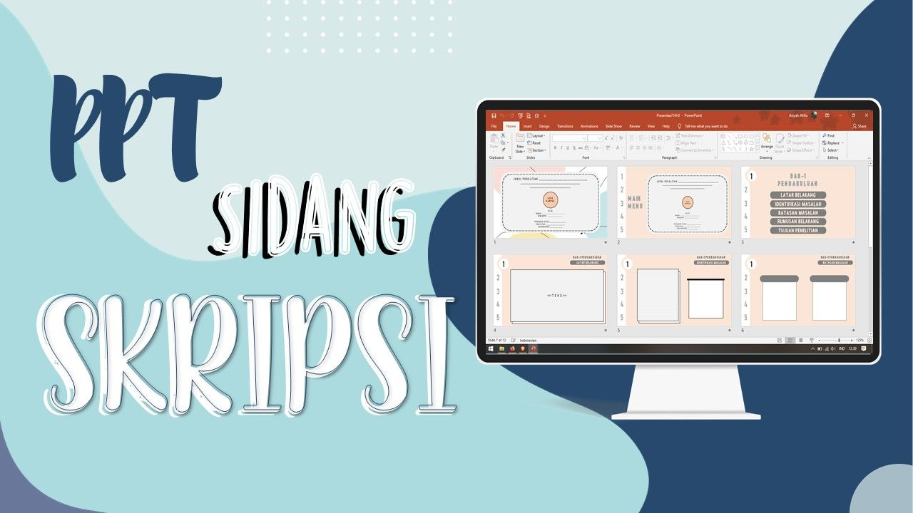 Free Powerpoint Sidang Skripsi Atau Seminar Proposal Presentasi Desain Pamflet Lucu