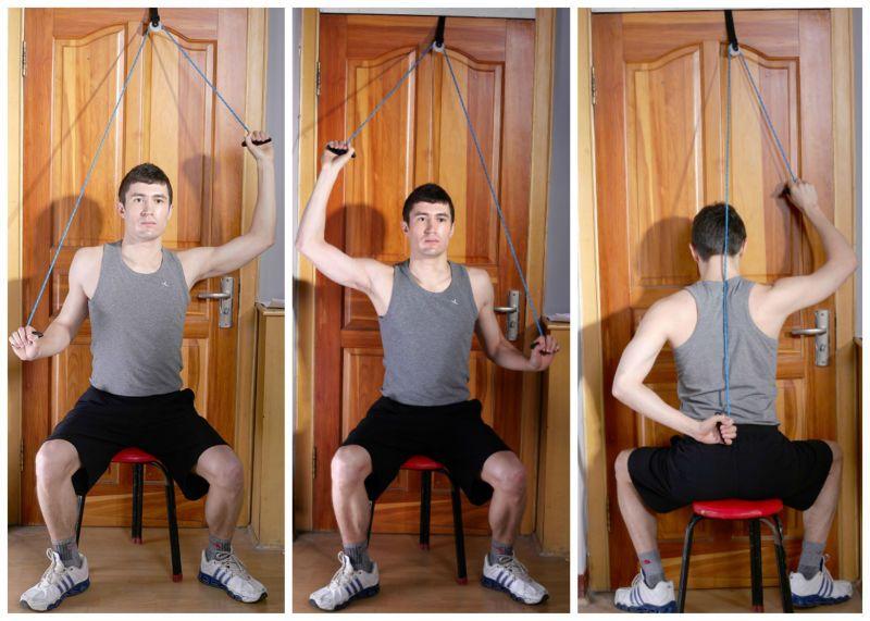 Shoulder Pulley Exercises Resistane Shoulder Pulley Band