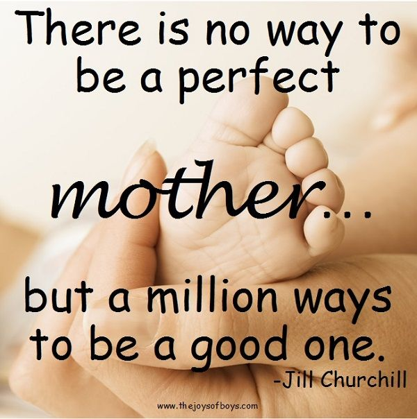 Image result for there is no perfect way to be a good mother quote