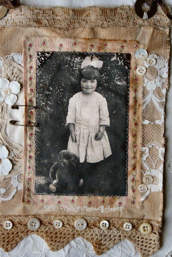 MIss Rosie Cheeks HANDMADE Fabric Collage   Spitze, Fotos und Bilder
