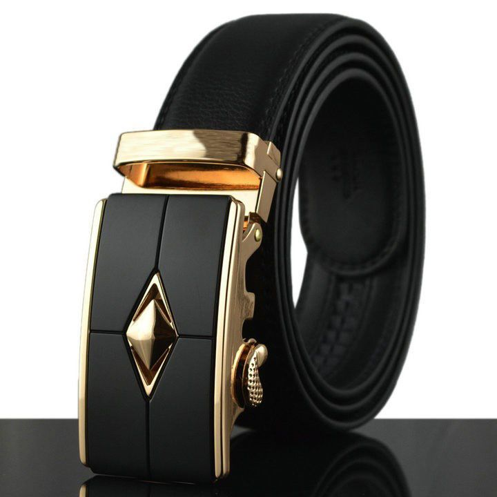 Men/'s Casual Waistband Leather Automatic Buckle Belt Waist Strap Belts Fashion H