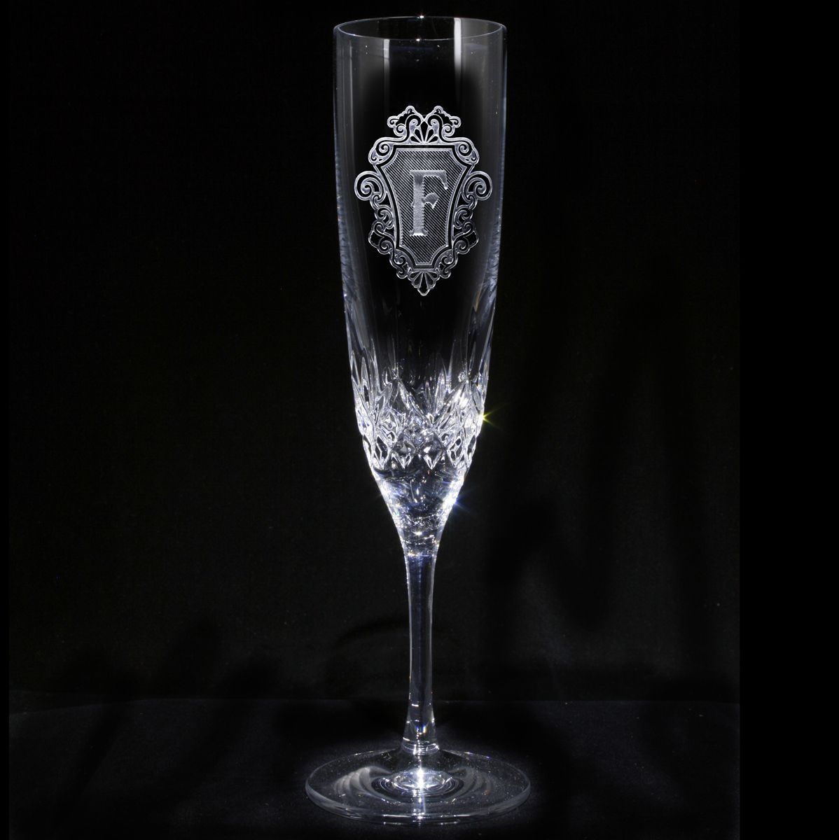 Pair Glittering Champagne Flutes Custom Toasting