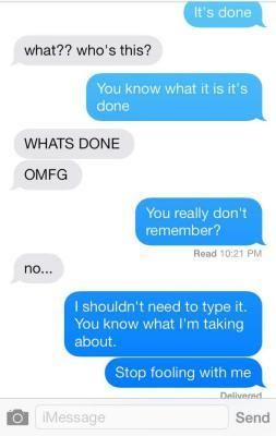 Texting it's done to random phone numbers, mean but hilarious