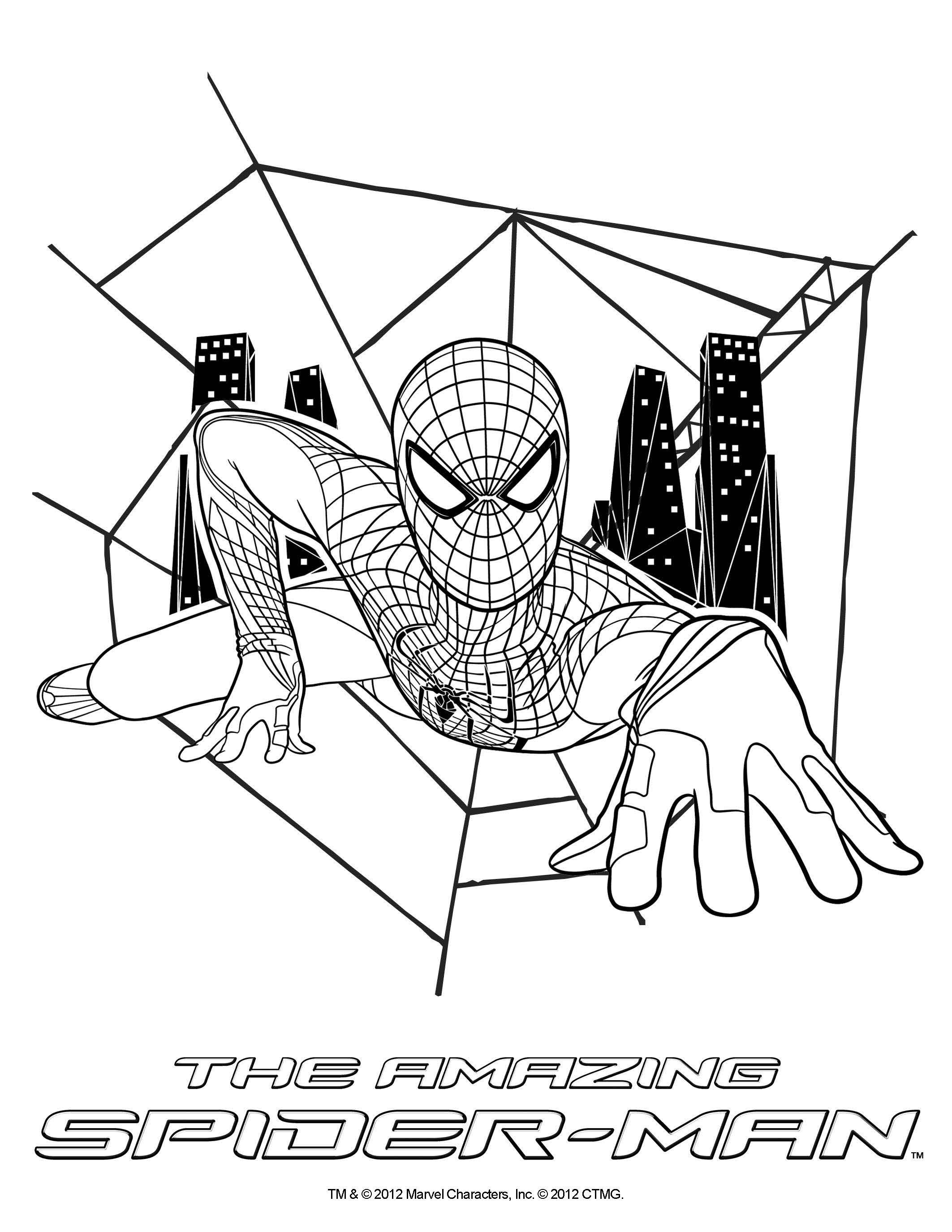 coloring sheet the amazing spider man in theatres july 3 2012