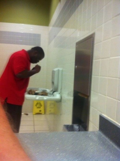 Dinner Is Served Baby Changing Station In Walmart Bathroom