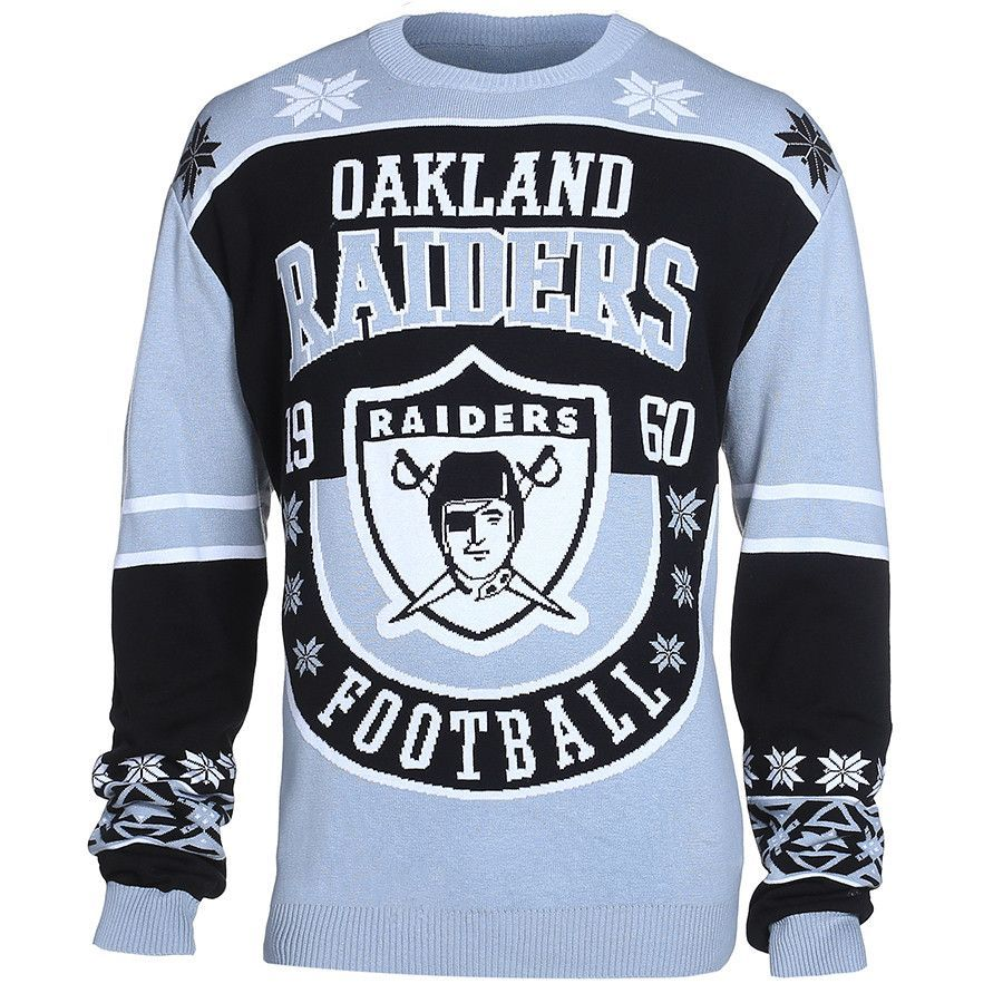 Oakland Raiders Cotton Retro Sweater | Raiders, Retro and Raider nation