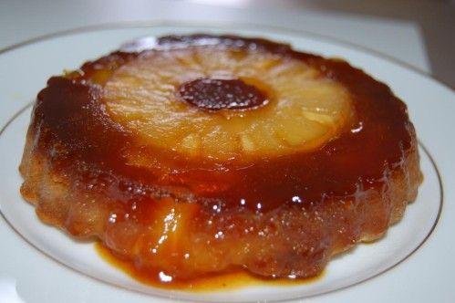 Un savoureux gâteau avec moins de matière grasse, moins de sucre, et qui, visuellement, séduira petits et grands gourmands allergiques, puisqu'il se présente comme une tarte tatin. Ingrédients pour environ 4 ou 5 gâteaux individuels : 1 bte d'ananas 80g...