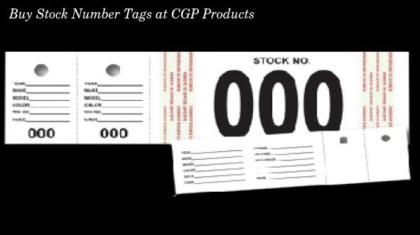 Buy Stock Number Tags online at CGP Products which are available in
