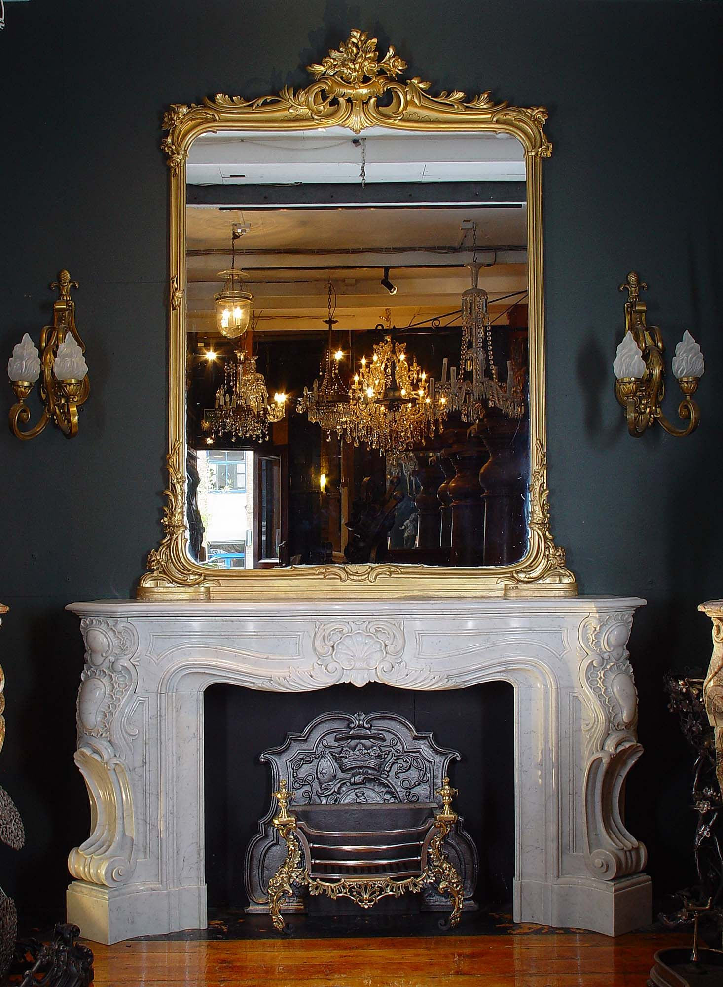 Mirror Fireplace Design Mirror Over Fireplace Faux Fireplace
