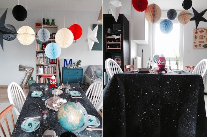 Deco pour anniversaire enfant theme espace, astronaute et
