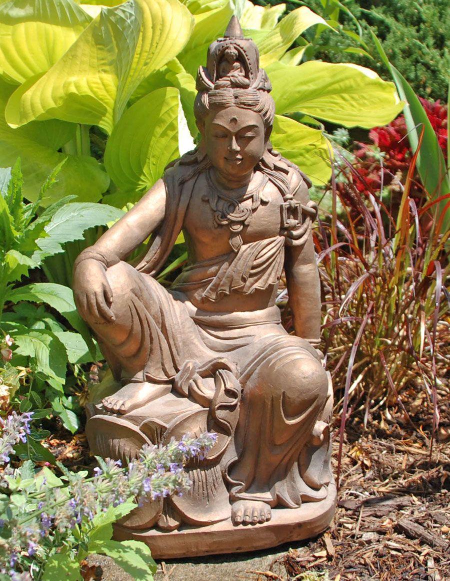 Buddha Statues For The Garden: Kuan Yin In Royal Ease Garden Statue
