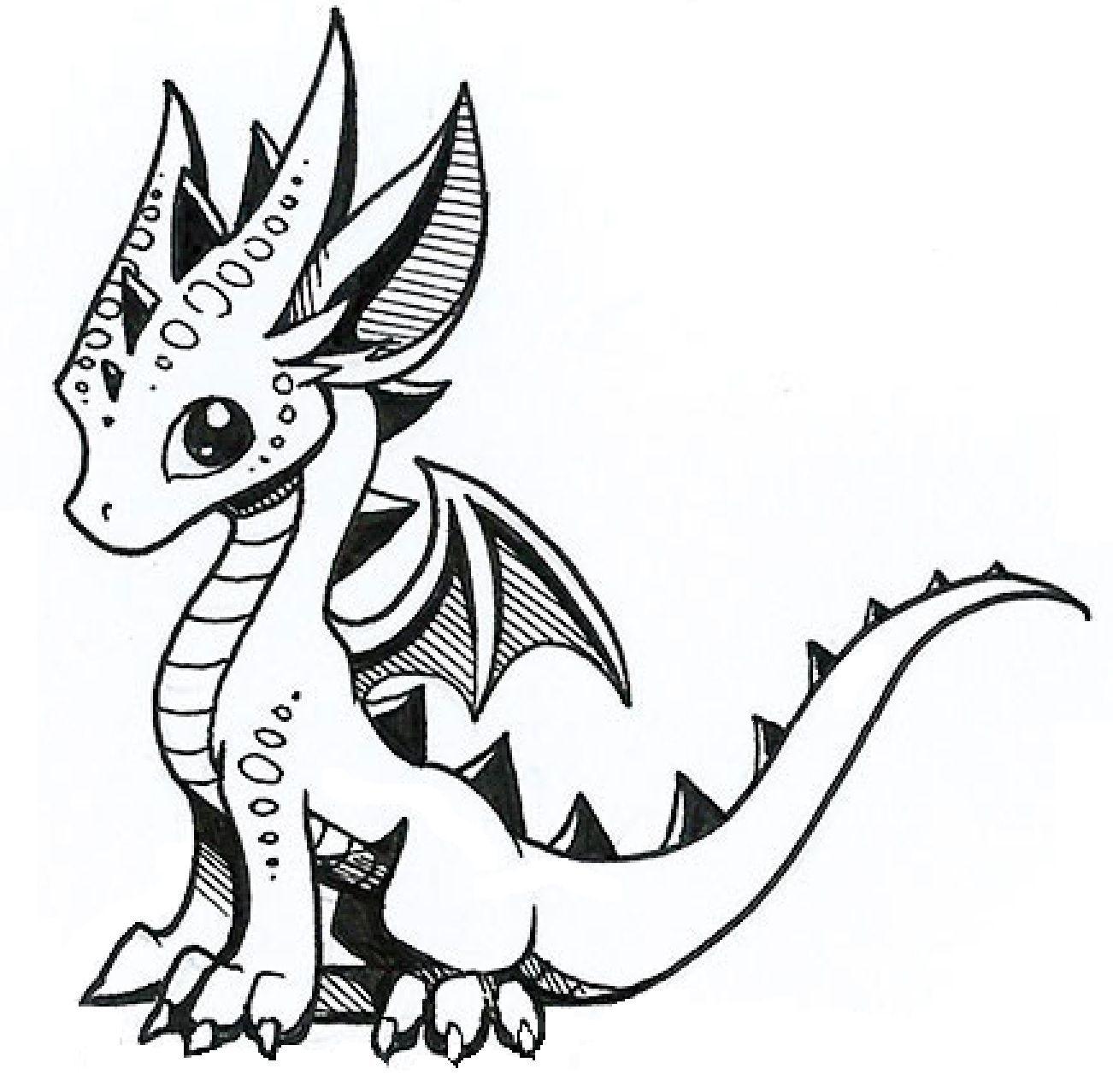 Cute Baby Dragon Drawings In 2020 Dragon Artwork Cute Dragon Drawing Dragon Coloring Page