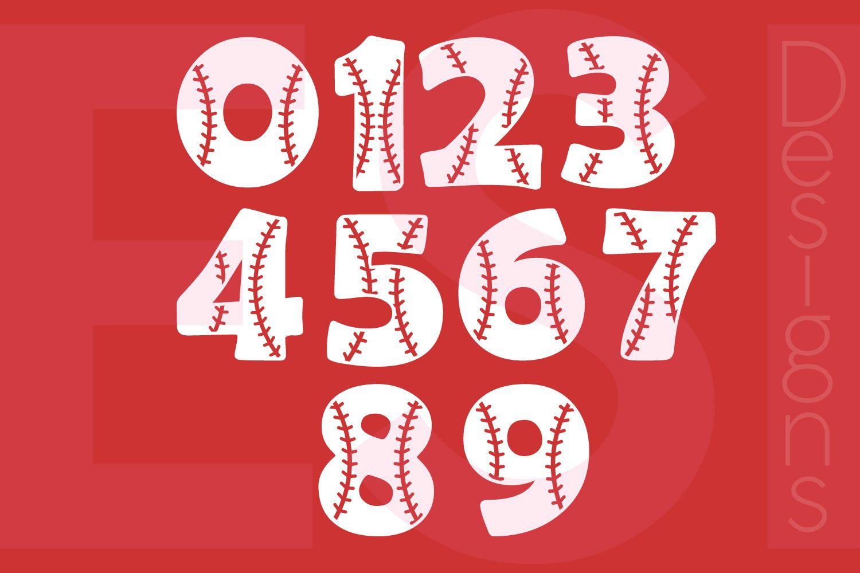 Baseball Numbers Design Set 09 Design Bundles