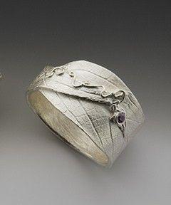 silver ring sage leaf eco friendly made in america. $105.00, via Etsy.