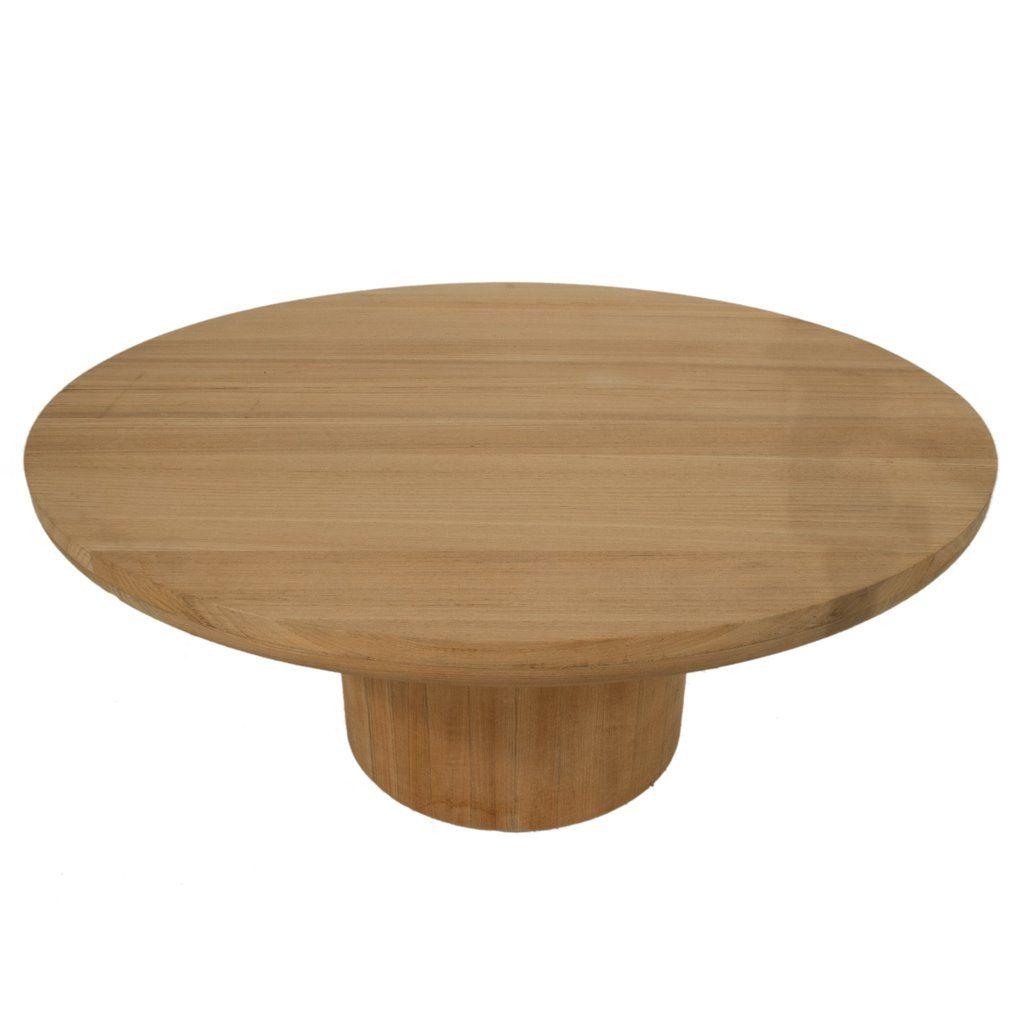round teak coffee table outdoor