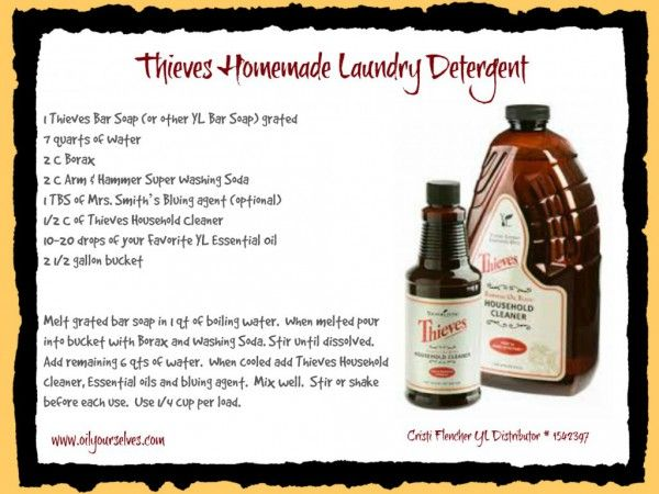 Diy Thieves Laundry Detergent Oil Yourselves Laundry Detergent