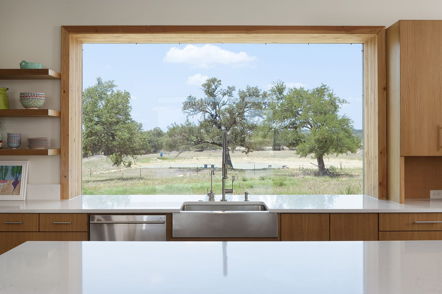 Large window kitchen designs  love the large window and deep counter above the sink also like the