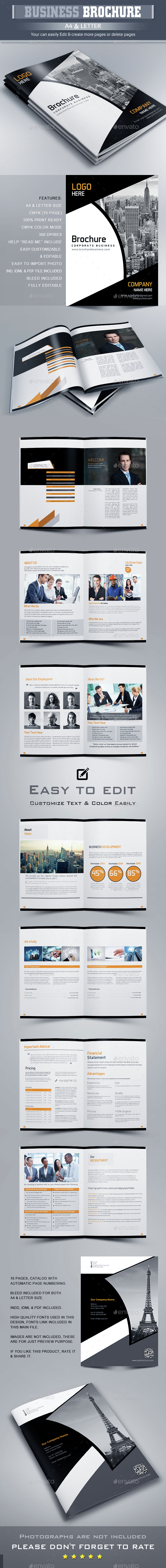 Business Brochure Template InDesign INDD. Download here: http ...