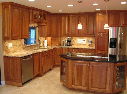 kitchen paint colors with light cherry cabinets home design information - Cherry Cabinet Kitchen Designs