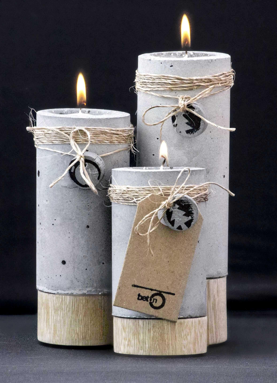 candelabros beton concrete pinterest bois diy beton et ciment. Black Bedroom Furniture Sets. Home Design Ideas