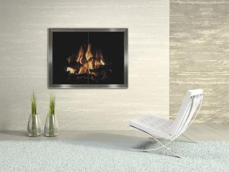 Modern Fireplace Door Idea Perfect For New Fireplaces Or Makeovers