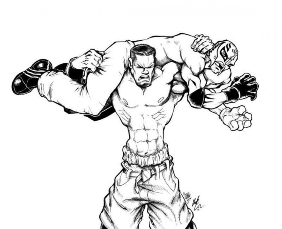 john cena coloring pages | Coloring Pages | Pinterest | Ausmalbilder