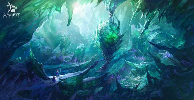 Heart of Crystal Cavern | Fantasy landscape, Environment concept art,  Concept art