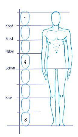 Proportionen Menschlicher Körper Malen Zeichnen Figuren