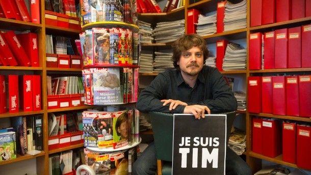 """Tim Wolff ist Chefredakteur des Satiremagazins """"Titanic""""."""