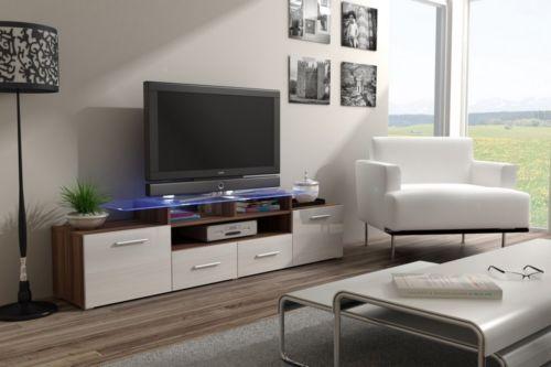 Details Zu Tv Schrank Evora Tv Lowboard Tv Unterschrank Pflaume Weiss Hochglanz Adams Furniture Tv Stand