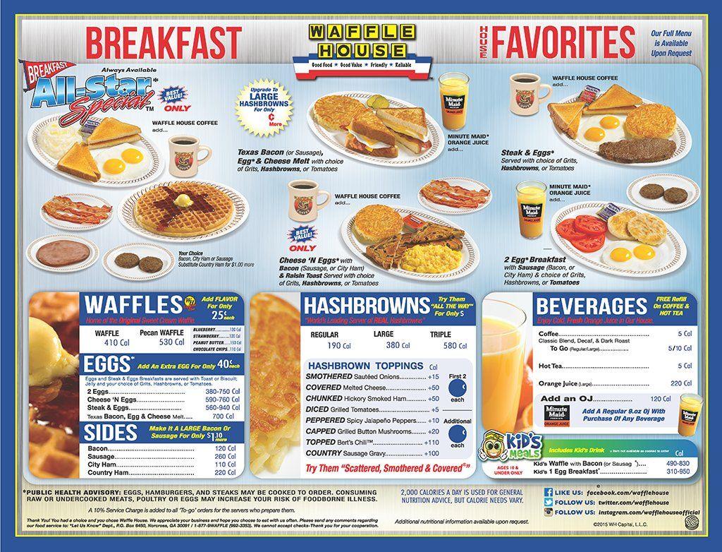 The Waffle House Menu Waffle House Menu Waffle House Waffle House Menu Prices