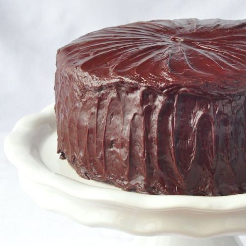 Chocolate Fudge Cake with Easy Fudge Frosting Really nice  Mein Blog: Alles rund um die Themen Genuss & Geschmack  Kochen Backen Braten Vorspeisen Hauptgerichte und Desserts # Hashtag