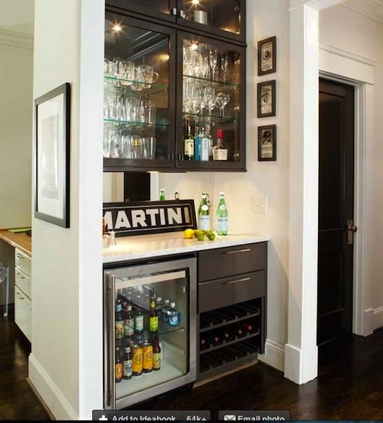 20 Small Home Bar Ideas And Space Savvy Designs: Sweet Chaos Home: Wet Bar Under The Stairs
