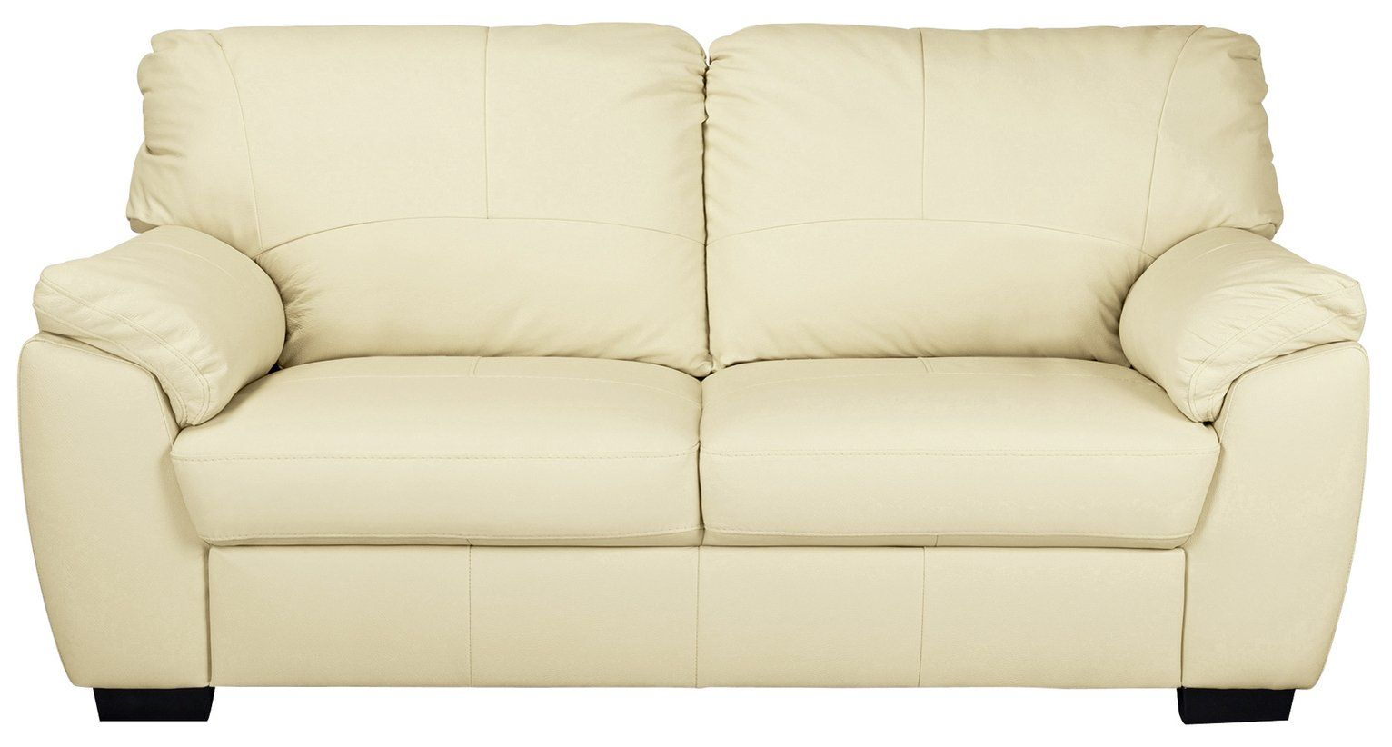 Buy Argos Home Milano 3 Seater Leather Sofa Ivory Sofas In 2020 3 Seater Leather Sofa Leather Sofa Cushions On Sofa