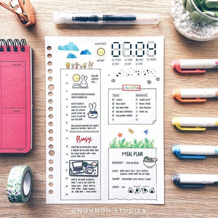 """Kalon「stationery & bujo」 on Instagram: """"My daily spread from July 4th. Tried a new style of title but I should have used a lighter color for outline 😅 but I do like the way it…"""""""