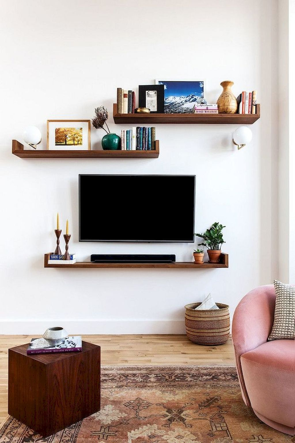 Floating Shelves Ideas Around Tv Google Search Modern Tv Wall
