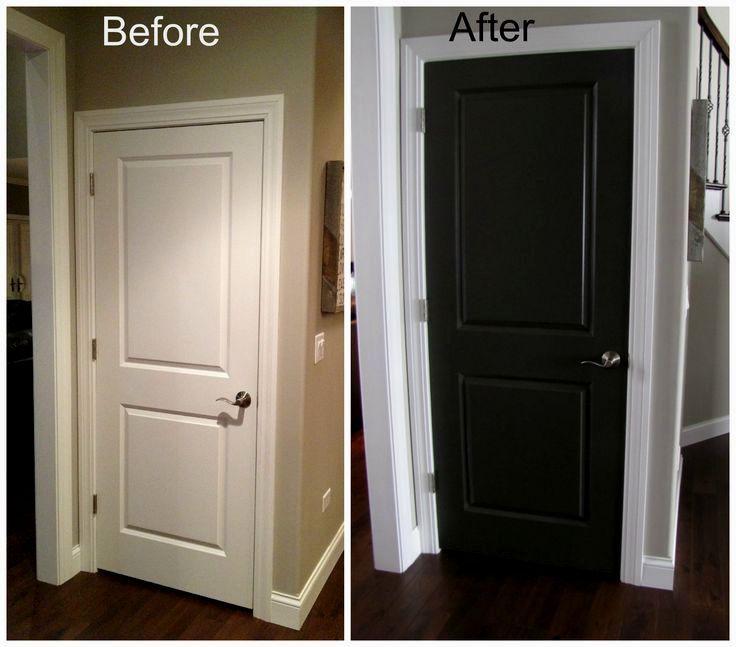 Image Result For Painted Bedroom Door Ideas Black Interior Doors