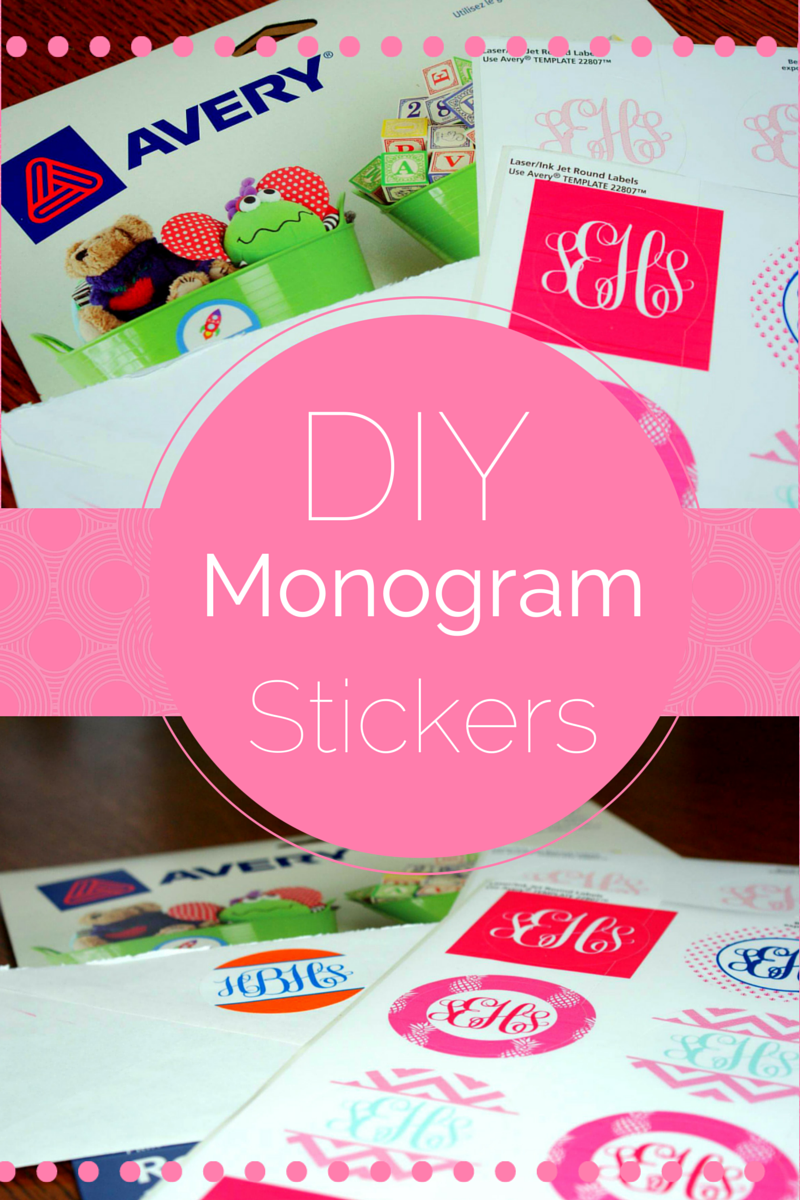 monogram wedding envelope seals sticker%0A DIY Monogram Stickers are easy to make with your printer and a pack of  labels