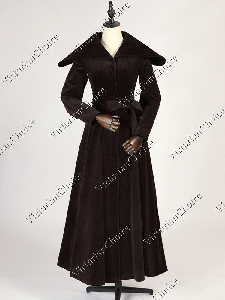 Reenactment & Theater Victorian Edwardian Sherlock Holmes Steampunk Punk Frock Coat Dress Cosplay C002 Clothing, Shoes & Accessories